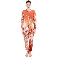 Amazing Flowers With Dragonflies OnePiece Jumpsuit (Ladies)