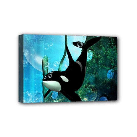 Orca Swimming In A Fantasy World Mini Canvas 6  x 4