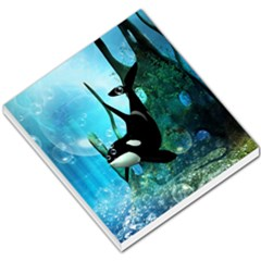 Orca Swimming In A Fantasy World Small Memo Pads