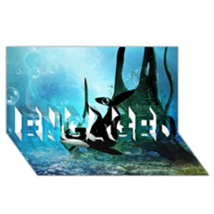 Orca Swimming In A Fantasy World Engaged 3d Greeting Card (8x4)