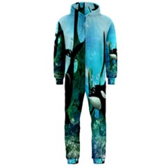 Orca Swimming In A Fantasy World Hooded Jumpsuit (Men)