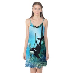 Orca Swimming In A Fantasy World Camis Nightgown