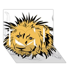 Lion I Love You 3d Greeting Card (7x5)