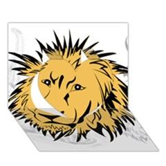 Lion Heart 3D Greeting Card (7x5)