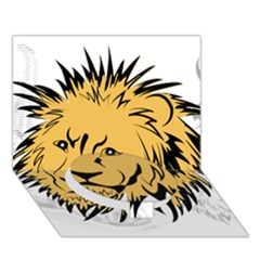 Lion Circle Bottom 3d Greeting Card (7x5)