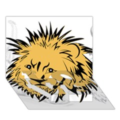 Lion LOVE Bottom 3D Greeting Card (7x5)