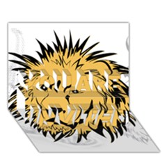 Lion YOU ARE INVITED 3D Greeting Card (7x5)