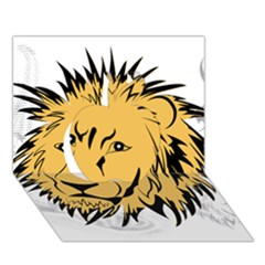 Lion Apple 3D Greeting Card (7x5)