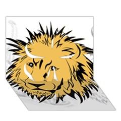 Lion Clover 3D Greeting Card (7x5)