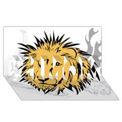 Lion #1 MOM 3D Greeting Cards (8x4)