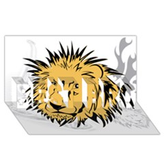 Lion Best Bro 3d Greeting Card (8x4)