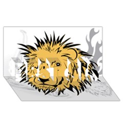 Lion Best Sis 3d Greeting Card (8x4)