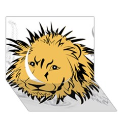 Lion Circle 3D Greeting Card (7x5)