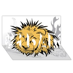 Lion #1 Dad 3d Greeting Card (8x4)