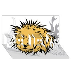 Lion BELIEVE 3D Greeting Card (8x4)