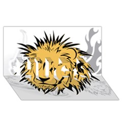 Lion HUGS 3D Greeting Card (8x4)
