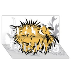 Lion Best Wish 3D Greeting Card (8x4)