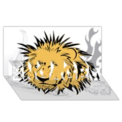 Lion ENGAGED 3D Greeting Card (8x4)