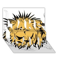 Lion TAKE CARE 3D Greeting Card (7x5)