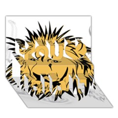 Lion You Did It 3d Greeting Card (7x5)