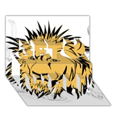 Lion Get Well 3D Greeting Card (7x5)