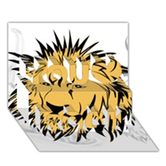 Lion You Rock 3D Greeting Card (7x5)