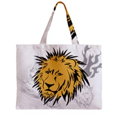 Lion Zipper Tiny Tote Bags
