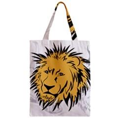Lion Zipper Classic Tote Bags