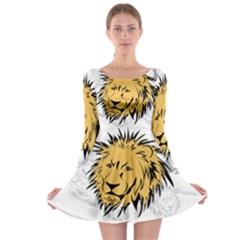 Lion Long Sleeve Skater Dress