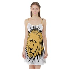 Lion Satin Night Slip