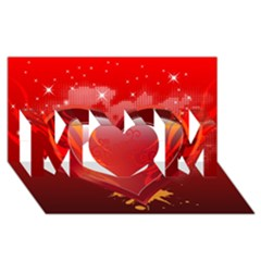 heart MOM 3D Greeting Card (8x4)