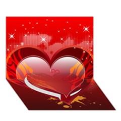 heart Heart Bottom 3D Greeting Card (7x5)