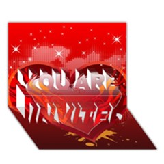 heart YOU ARE INVITED 3D Greeting Card (7x5)