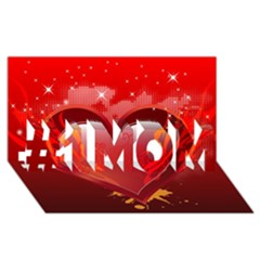 heart #1 MOM 3D Greeting Cards (8x4)
