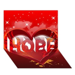 heart HOPE 3D Greeting Card (7x5)