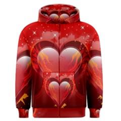Heart Men s Zipper Hoodies