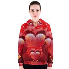 Heart Women s Zipper Hoodies