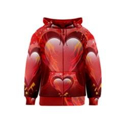 Heart Kids Zipper Hoodies