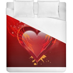 Heart Duvet Cover Single Side (double Size)