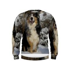 Australian Shepherd In Snow 2 Boys  Sweatshirts