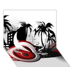 Music, Speaker Heart 3d Greeting Card (7x5)