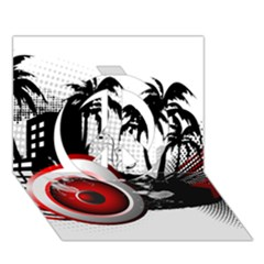 music, speaker Peace Sign 3D Greeting Card (7x5)