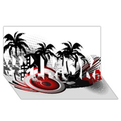 Music, Speaker #1 Mom 3d Greeting Cards (8x4)