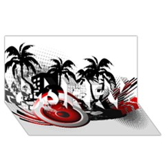 music, speaker SORRY 3D Greeting Card (8x4)
