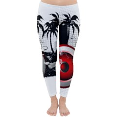 music, speaker Winter Leggings