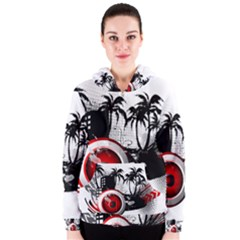 music, speaker Women s Zipper Hoodies