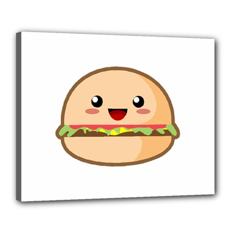 Kawaii Burger Canvas 20  X 16