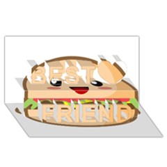 Kawaii Burger Best Friends 3d Greeting Card (8x4)