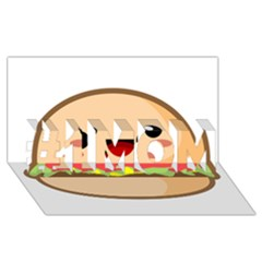 Kawaii Burger #1 MOM 3D Greeting Cards (8x4)
