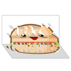 Kawaii Burger Best Wish 3D Greeting Card (8x4)
